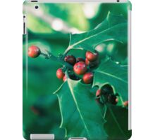 Holly bush with red berries II iPad Case/Skin