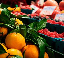 Pike Place Market Fruit Stand by PopPopPhoto