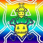 Percentum Skull & Xbones (rainbow) by PercentumDesign