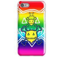 Percentum Skull & Xbones (rainbow) iPhone Case/Skin