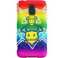 Percentum Skull & Xbones (rainbow) Samsung Galaxy Case/Skin
