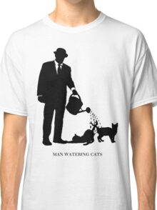 Man Watering Cats Classic T-Shirt