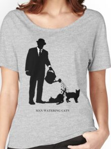 Man Watering Cats Women's Relaxed Fit T-Shirt