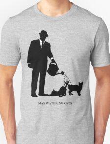 Man Watering Cats Unisex T-Shirt