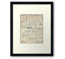 Steampunk London Map Framed Print
