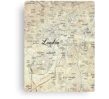 Steampunk London Map Canvas Print