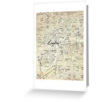 Steampunk London Map Greeting Card