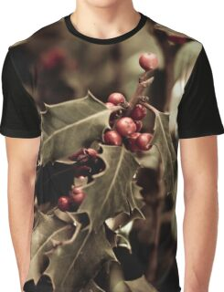 Holly bush with red berries III Graphic T-Shirt