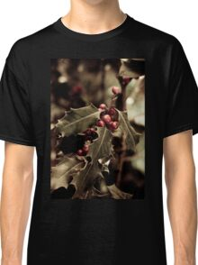 Holly bush with red berries III Classic T-Shirt