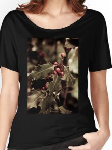 Holly bush with red berries III Women's Relaxed Fit T-Shirt
