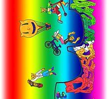 Percentum Xtreme Sports (rainbow) by PercentumDesign
