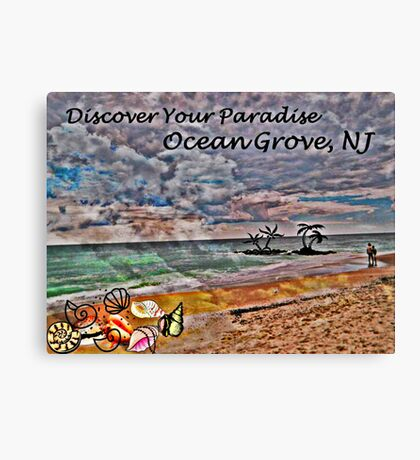 Postcard Fun - Paradise Ocean Grove Canvas Print