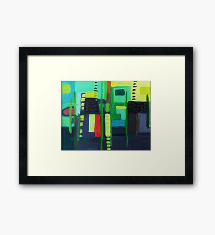 boat yard Framed Print