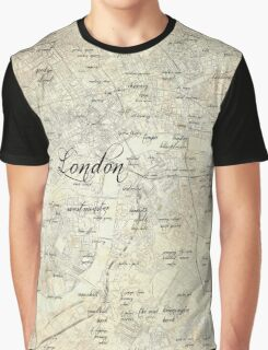 Steampunk London Map Graphic T-Shirt