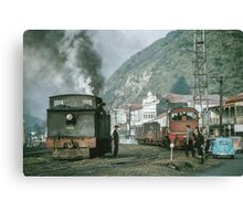 Steam engines Greymouth NZ 196503090099  Canvas Print