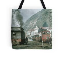 Steam engines Greymouth NZ 19650309 0099  Tote Bag