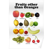 Fruits Other Than Oranges Wall-chart Poster