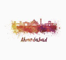 Ahmedabad skyline in watercolor One Piece - Short Sleeve