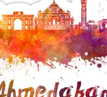 Ahmedabad skyline in watercolor Sticker