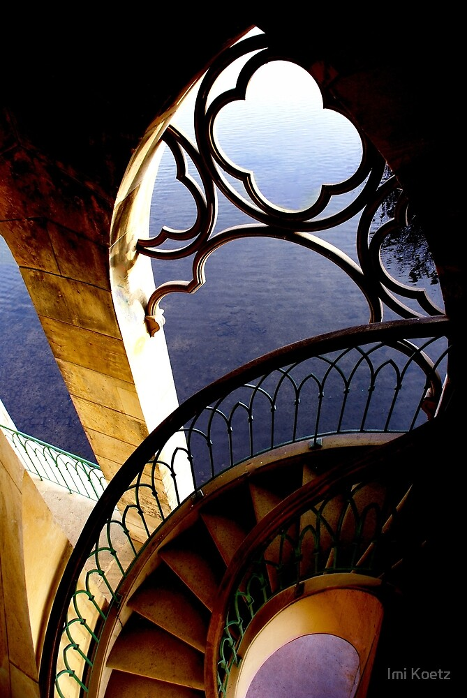 The stairs into the lake by Imi Koetz
