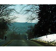 Amish Man Walking Home Photographic Print