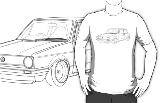 MK1 Golf Line by Carl Eyre