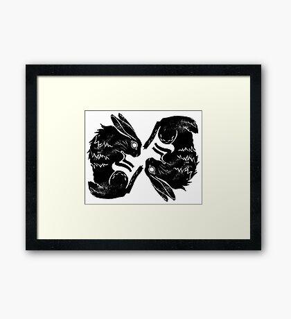 Wit and Bun Deux Framed Print