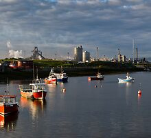Tranquil morning at Paddy's Hole panorama by Gary Eason + Flight Artworks