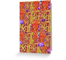 Abstract  Assemblage Greeting Card