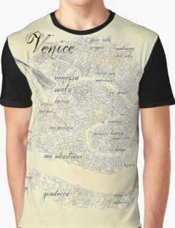 Old Venice Map Graphic T-Shirt
