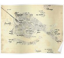 Old Venice Map Poster