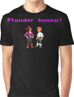 Monkey Island Plunder Bunny Retro Pixel DOS game fan item Graphic T-Shirt