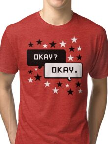 The Fault In Our Stars Black Design Stars T-shirt Okay Okay Tri-blend T-Shirt
