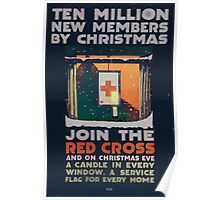 Ten million new members by Christmas Join the Red Cross and on Christmas Eve a candle in every window a service flag for every home 002 Poster