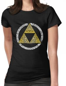 Zelda - Triforce circle Womens Fitted T-Shirt