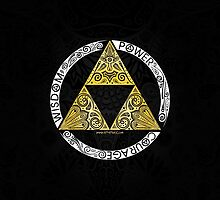 Zelda - Triforce circle by artetbe