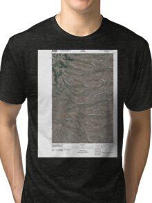USGS Topo Map Washington State WA Whiskey Dick Mountain 20110411 TM Tri-blend T-Shirt