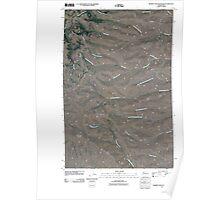 USGS Topo Map Washington State WA Whiskey Dick Mountain 20110411 TM Poster