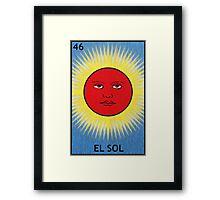 El Sol - The Sun Framed Print