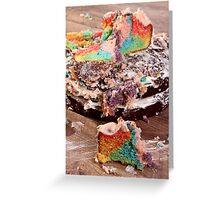 Rainbow cake  302 - 365  Greeting Card