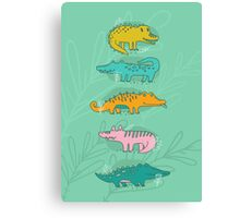 Cute Crocodiles Canvas Print