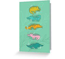 Cute Crocodiles Greeting Card