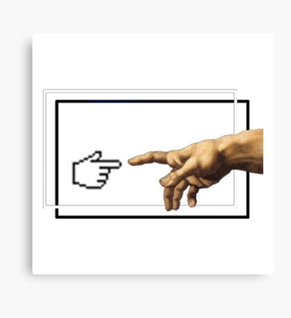 Creation of humans Canvas Print