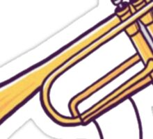 "Playing the ""trumpet"" Sticker"
