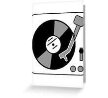 Retro Record Player by Chillee Wilson Greeting Card