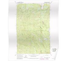 USGS Topo Map Washington State WA Gleason Mtn 241317 1967 24000 Poster