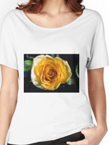 Backlit Yellow Rose Women's Relaxed Fit T-Shirt