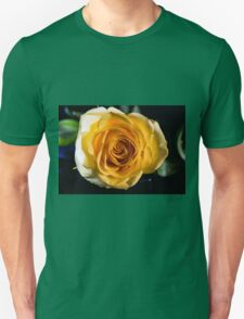Backlit Yellow Rose Unisex T-Shirt