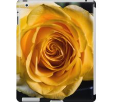 Backlit Yellow Rose iPad Case/Skin