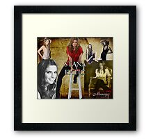 Stana Katic Framed Print
